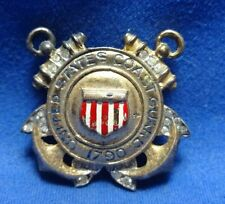 WWII Sterling Coast Guard Home Front Sweetheart Pin With Glass Stones by Trifari
