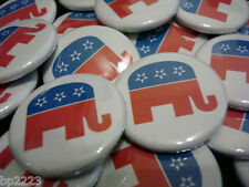 "Republican Party Elephant Symbol BUTTON Badge 1-1/4"" w/Pinback Election Campaign"
