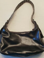 Francesco Biasia Black Split Leather handbag Shoulder Bag Purse