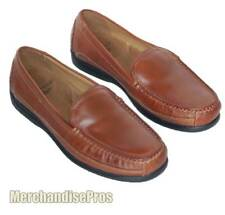 MEN'S DOCKERS CATALINA SLIP-ON LEATHER LOAFER SHOES 11M MEDIUM BROWN  NEW!