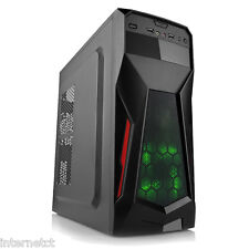 DYNAMODE LOCKSTOCK GC375 BLACK mATX USB 3.0 COMPUTER PC CASE - FRONT GREEN LED