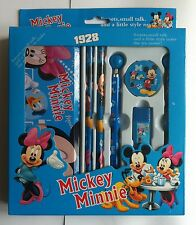 Disney Character Kids 6Pc Mickey Minnie School Stationary Set With Pencil Case
