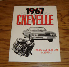 1967 Chevrolet Chevelle Illustrated Facts Feature Manual 67 Chevy