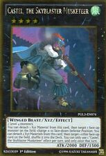 YUGIOH CARD  PGL3-EN076 CASTLE ,THE SKYBLASTER MUSKETEER    Gold  Rare -