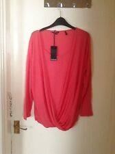 Ladies New Coral long sleeved top size 12