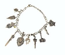World Of WARCRAFT ( 10 Themed Charms) Assorted Metal Charm BRACELET