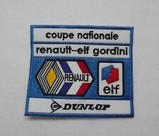 Patch / Ecusson PILOTE COUPE NATIONALE RENAULT ELF GORDINI ELF DUNLOP