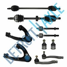 10pc Complete Suspension Kit +2 Front Axle Shafts - 1996-00 Honda Civic W/ ABS
