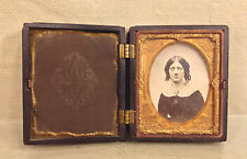Ant Wood Pocket Frame Union Forever Tintype of Woman Military Frame Images