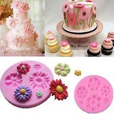 Molde Silicona Fondant para decorar tarta pasteles forma de crisantemo