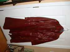 # SHIPS DAILY #  Womens  Etienne Aigner ~Burgundy Leather Jacket~ Size 12 LONG