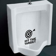Hit The Target Waterproof Funny Toilet Sticker Bathroom Lettering Vinyl Sticker