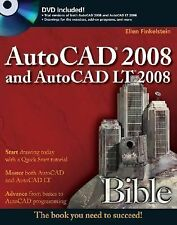 AutoCAD 2008 and AutoCAD LT 2008 Bible, Finkelstein, Ellen, Good Book
