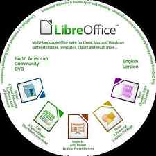 Libre Office 5.2.4 CD  2017 Suite  - Complete Office System DVD AMAZING 99 Cents