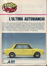 MA111-Clipping-Ritaglio 1969 A111 Autobianchi