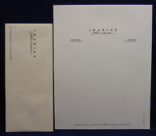 JOHN LENNON Promo IMAGINE film David L Wolper personal stationery RARE BEATLES