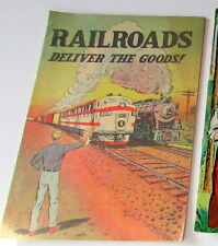 "1962 Howard Johnson Kids Menu and a 1950's ""Railroads "" Educational"