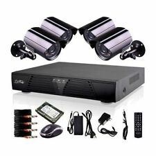 8CH CCTV DVR 600TVLINES 4 Outdoor Home Security Cameras System with 1TB HDD