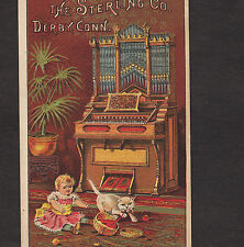 Symphonium Organ Sterling Piano Derby CT Brattleboro White Cat Advertising Card