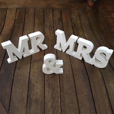 Wedding Reception Sign Solid Wooden Letters Mr & Mrs Table Centerpiece Decor set