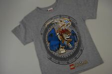 Lego Chima Boys S Small S/S Gray Decal T-shirt - New
