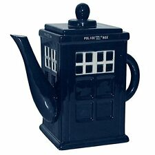 Large Blue Tardis Police Call Box China Teapot The Doctor Dr Who Novelty LON56