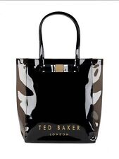 TED BAKER Tricon Plain Bow Large Icon Tote Bag Black NEW