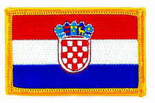 FLAG PATCH PATCHES CROATIA CROATIAN IRON ON COUNTRY EMBROIDERED WORLD FLAG