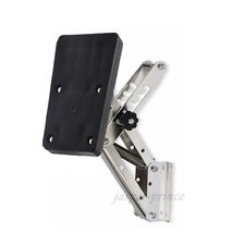 US Shipping Heavy Duty Stainless Steel Black Outboard Motor Bracket Up to 25HP