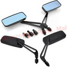 UNIVERSAL RECTANGLE ALUMINUM MOTORCYCLE REARVIEW MIRRORS 8MM10MM BLACK FOR HONDA