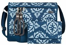 JJ Cole All Around Baby Diaper Bag Aqua Ikat with Changing Pad NEW 2016