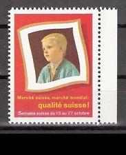 Svizzera vignette Marche Suisse MONDIAL Qualite Suisse ** ragazzo settimana svizzero
