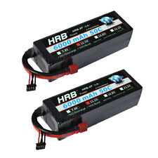 2×HRB Lipo Battery 6000mah 3S 11.1V 50C 100C Hard Case for Car Boat Helicopter