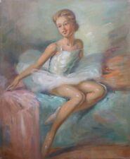 """Anonyme (XIX-XX) Art déco """"Le petit rat"""" Années 30 ou 40 Portrait d'une danseuse"""