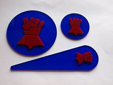 Warhammer 40K 40000 Blast Templates Pack Crimson fists Marines Space