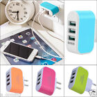 US / EU 3.1A Triple USB Port Wall Home Travel AC Charger Adapter For Samsung HTC