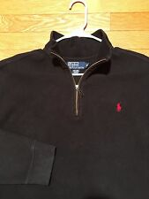 Polo Ralph Lauren Men's Sz XL Mock Neck Sweat Shirt, Black/Red, VGUC, D8DQ03