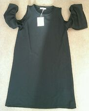 30% DISCOUNT! NEW: Women's ZARA Frill Sleeved Black Dress Size Small