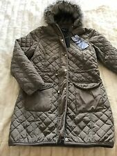 New With Tags Brave Souls Quilted Jacket Green Winter Spring  Size 12