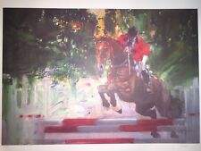 1983 Olympic Visions of Gold Horse Jump Robert Peak Lithograph Signed Numbered