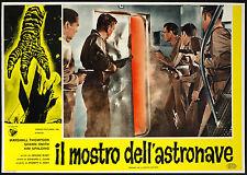 CINEMA-fotobusta IL MOSTRO DELL'ASTRONAVE m. thompson, s. smith, E. L. CAHN