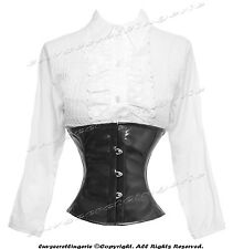 Full Steel Boned Heavy Lacing PVC Underbust Burlesque Shaper Corset #8079(PVC)