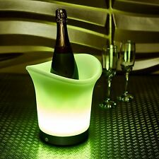GREEN Colour Changing LED ICE BUCKET Champagne Wine Part Christmas Restraunt UK