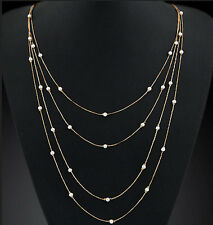 Hot Sale New Fashion Pearl Pendants Women Multilayer Statement Necklace Jewelry
