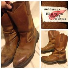 RED WING PECOS DISTRESSED WORK BOOTS USA ENGINEER Mens Size 8.5D 8 1/2 D