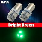 10X Green BA9S 5 SMD LED Interior Map Side Door Light Bulbs