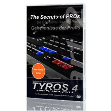 YAMAHA Tyros 4 Keyboard LERN DVD PART 2 The Secret of Pros Secrets k0914