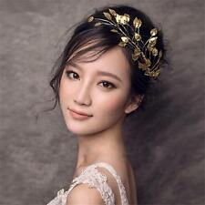 Wedding Bridal Bridesmaid Gold Leaf Headband Tiara Headpieces Hair Accessories