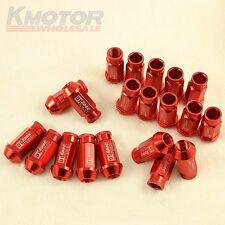 NEW RED 20PC M12X1.5 D1-SPEC RACING WHEEL LUG NUTS FIT FOR HONDA CIVIC ACURA