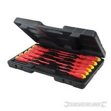 Silverline Insulated Soft Grip Screwdriver Set 11pce 918535 VDE electrician